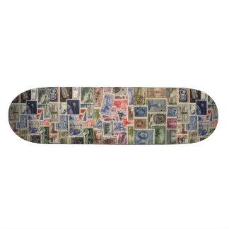 Vintage Stamps Skateboard