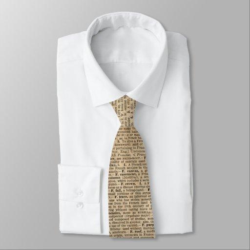 Vintage Standard Tie Dictionary Page Design