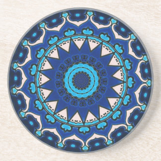 Vintage star motif  Ottoman Turkish tile design Coaster