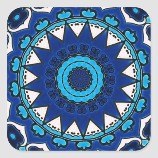 Vintage star motif Ottoman Turkish tile design Square