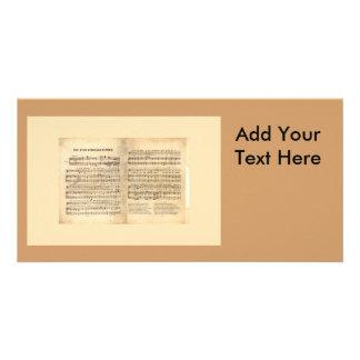 Vintage Star Spangled Banner Song Sheet Lyrics Personalised Photo Card