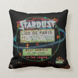 Vintage Stardust Casino Las Vegas Neon Sign 1950's Cushion