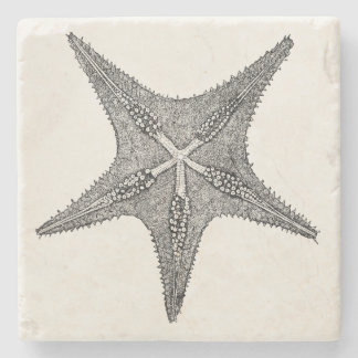Vintage Starfish Antique Star Fish Template Stone Coaster