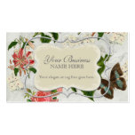 Vintage Stargazer Lily Rose Butterfly n Hydrangea Pack Of Standard Business Cards