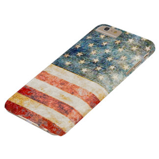 Vintage Stars and Stripes American Flag Barely There iPhone 6 Plus Case
