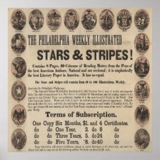 Vintage Stars & Stripes Philadelphia Weekly Print