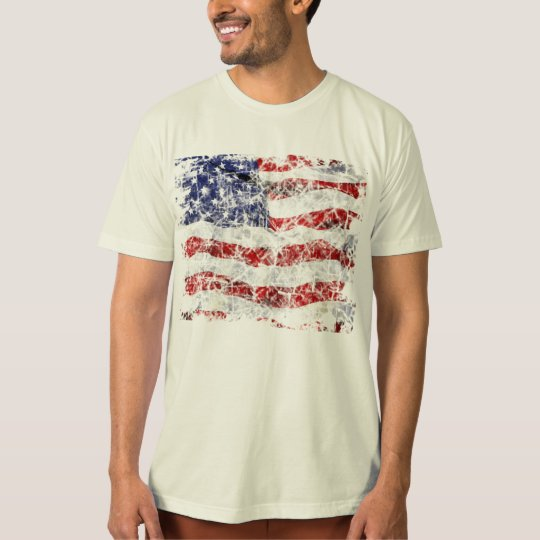 VINTAGE STARS & STRIPES. T-Shirt