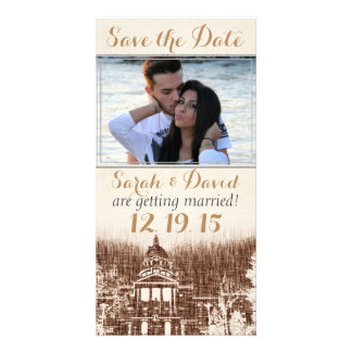 Vintage State Capitol Pride Save the Date Card Photo Card