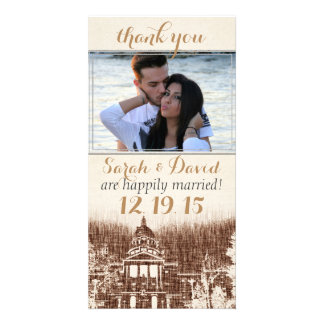 Vintage State Capitol Pride Thank You Custom Photo Card