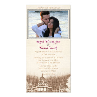 Vintage State Capitol Pride Wedding Invitation Custom Photo Card