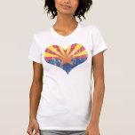 Vintage State Flag of Arizona Heart Shirts