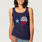 Vintage State Flag of Texas Heart Tank Top