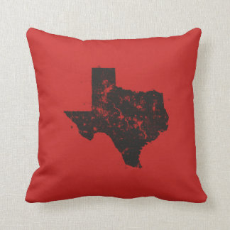Vintage State Map Silhouette of Texas Cushion