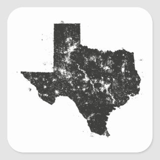 Vintage State Map Silhouette of Texas Stickers