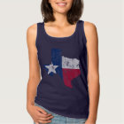 Vintage State Outline of Texas Flag Tank Top