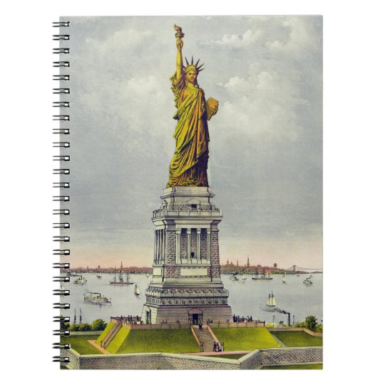 Vintage Statue of Liberty and Spiral Notebook