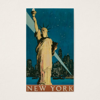 "Vintage ""Statue of Liberty"" New York City Business Card"