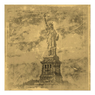 Vintage Statue Of Liberty, New York Poster