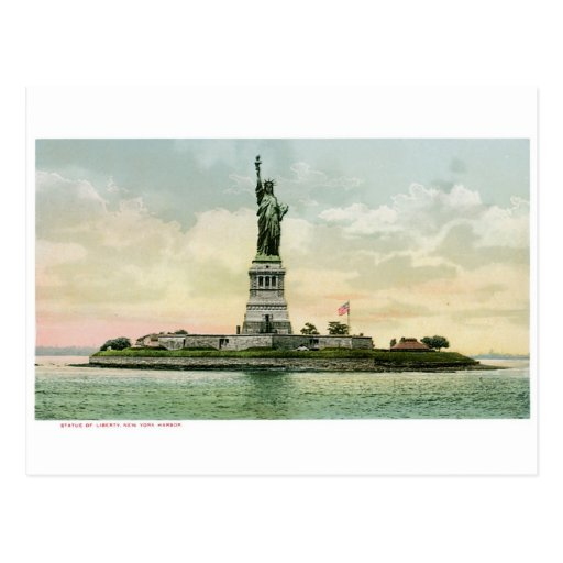 """Vintage """"Statue of Liberty"""" Poster. New York. Postcards"""