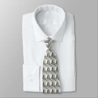 Vintage Statue of Liberty tile pattern tie