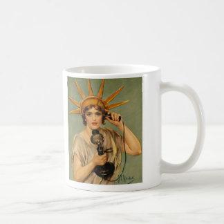 Vintage Statue of Liberty, WWI Patriotic War Ad Coffee Mug