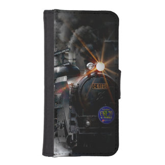 Vintage Steam Engine Black Locomotive Train iPhone SE/5/5s Wallet Case