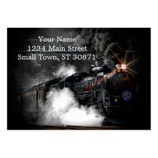 Vintage Steam Engine Black Locomotive Train Pack Of Chubby Business Cards