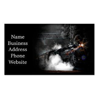Vintage Steam Engine Black Locomotive Train Pack Of Standard Business Cards