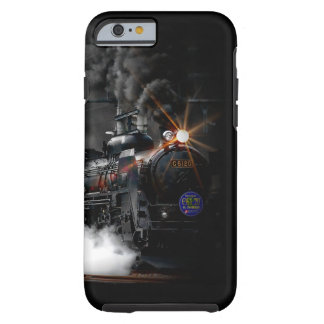 Vintage Steam Engine Black Locomotive Train Tough iPhone 6 Case