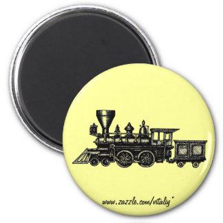 Vintage steam engine locomotive graphic magnet