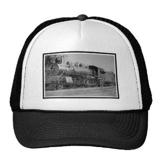 Vintage Steam Engine Locomotive Railroad Mesh Hat
