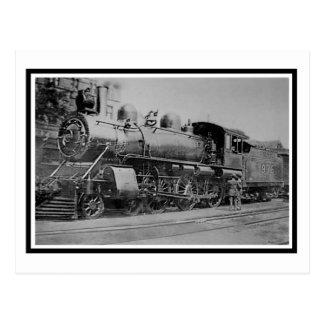Vintage Steam Engine Locomotive Railroad Postcard