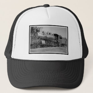 Vintage Steam Engine Locomotive Railroad Trucker Hat