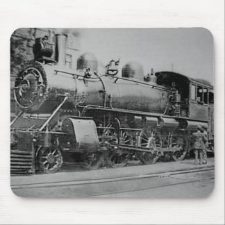 Vintage Steam Engine Railroad Locomotive Mouse Mat