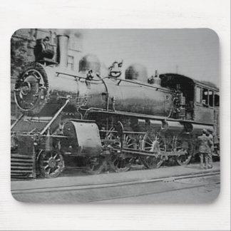 Vintage Steam Engine Railroad Locomotive Mouse Pad