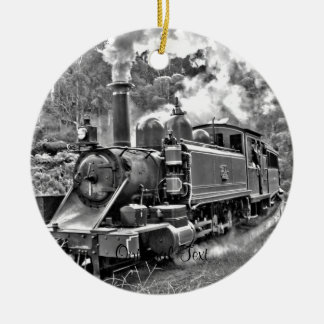 Vintage Steam Engine Train Christmas Ornament
