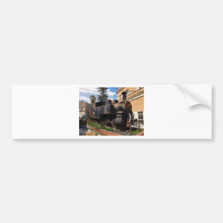 Vintage Steam Locomotive Bumper Sticker