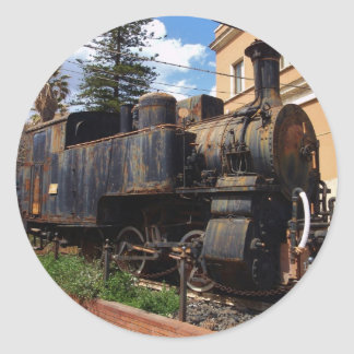 Vintage Steam Locomotive Classic Round Sticker