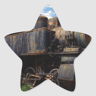 Vintage Steam Locomotive Star Sticker