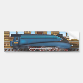 Vintage Steam Train in Station Car Bumper Sticker