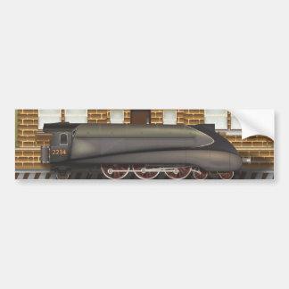 Vintage Steam Train in Station Bumper Sticker