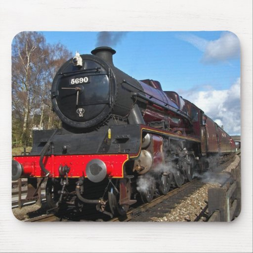 Vintage steam train mouse mat