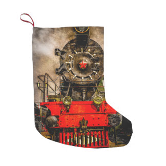 Vintage Steam Train - Wheels of Iron Small Christmas Stocking