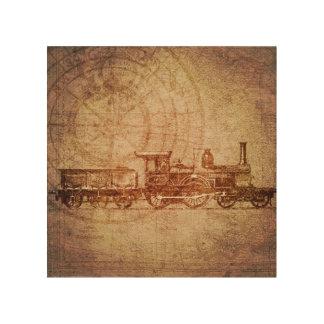 Vintage Steam Train Wood Art