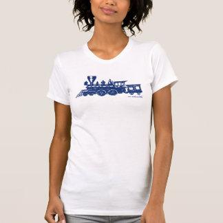 Vintage steame engine locomotive graphic t-shirt