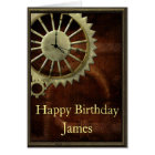 Vintage Steampunk Birthday Card