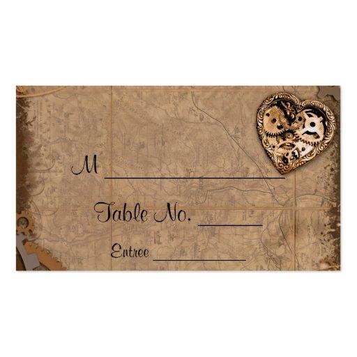 Vintage Steampunk Bride Wedding Place Cards Business Card