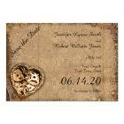 Vintage Steampunk Bride Wedding Save the Date Card