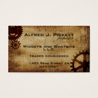 Vintage Steampunk Cogs Business Card