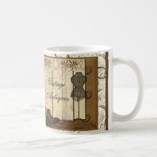 Vintage Steampunk Collage Basic White Mug